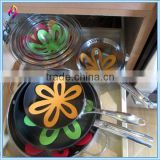 Colorful Customized Non-woven Flower Felt Pot Holder Pan Cookware Protectors