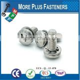 Made in Taiwan Phillips Pan Head External or Internal Tooth Lock Washer SEMS Screw Zinc Plated