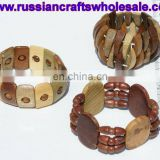 Wooden Bracelets Russian Carved Beaded Jewelry Shop Online Folk Art Crafts, Wholesale Products from Russia