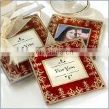 Imperial Exquisite Glass Photo Coasters set return gifts For wedding table decoration Favors