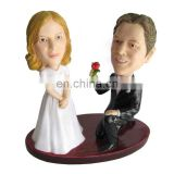 custom design couple bobble head funny resin wedding bobble head