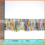 50mm colorful woolen yarn rayon made fringe