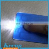 Hottest Advertising products Credit Card Style 2 LED Light/bulk ABS mini flashlight with logo print