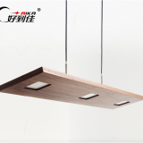 modern wood pendant lamps rectangle droplight for indoor