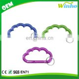 Winho Laser engraved cloud shaped carabiner