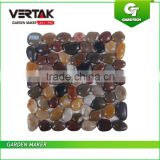 OEM welcome Eco-friendly natural stone 30.5*30.5cm suqare flooring polished blending pebble stone for garden