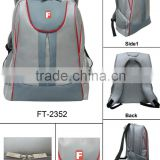 Newest high quality hot sale promotional Sport Backpack grey polyester sport bag men bag