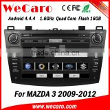 Top Version Android 4.4.4 car dvd 2 din for mazda 3 radio radio gps A9 cpu 1.6 ghz 2009-2012