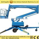 Electric trailers with hydraulic lifts/hydraulic telescopic trailer articulating boom lift