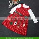 Girls Polka Dot Dress+Long Sleeve Tops Blouse Outfits Christmas Style Sets 2-7Y Boutique