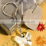 2012 Newest wedding party favors and souvenirs Crystal Craft Chrome Key Chain with Crystal butterfly