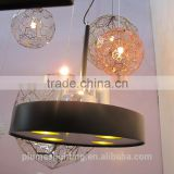 Hot sale LED+G9 lron Indoor Projects Decoration Chandelier pendant lamp for bar hotel restaurant PLP8087-C-8