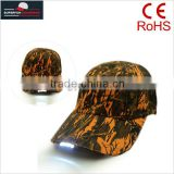 manufacturing orange camouflage watery oak camo LED hunting caps and hats                                                                         Quality Choice