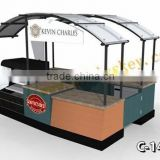 2015newest!mobile outdoor food cart design/ice cream kiosk for sale