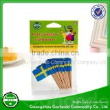 High quality custom-made mini hand flag toothpicks