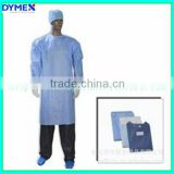 Dymex Disposable PP nonwoven/SMS printed Surgical Gown/ Isolation Gown Patient Gown with Elastic and Knit Cuff ISO Standard
