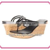 Fashion flip flop wood wedge slippers
