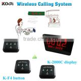 Factory Manufacturer High Quality Food Court Restaurant Hotel Wireless Queue Waiter Table Buzzer Call System