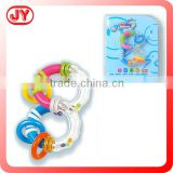 Eco-friendly plastic cute baby rattle toy with EN71