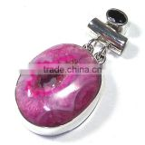 Agate druzy jewelry 925 sterling silver jewelry wholesale Indian semi precious stone jewelry