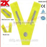 EN ISO 20471 yellow security kids safety vest with reflective strips