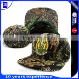 High quality custom embroidered cotton Camo 6 panel Baseball Cap 6 panel flat camo snapbck hats
