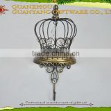 Crown Design Metal Wall Hook, Pathook for Home Decoration