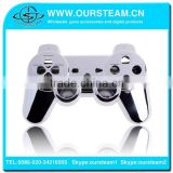 hot selling chrome case housing repair replacement shell for ps3 controller repair kits all buttons included