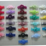 "wholesale handmade DIY baby lace headbands,6""length elastic lace headbands"
