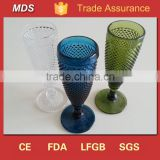 Handmade multi colored thermal etched wine glasses wholesale