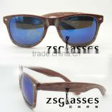 cheap Wholesale authentic designer sunglassees/eyewear/retro wooden sunglass can print logo in frame