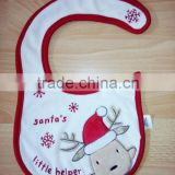 infants & toddlers&children's cotton baby bibs customized embroidered christmas santa's logo bib-29 for baby                                                                         Quality Choice