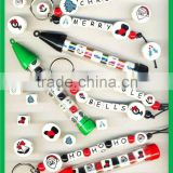 Christmas Ceramic Beads, Christmas Beaded Keychain, Christmas Beaded Pen