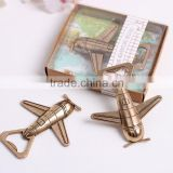 Promotion custom metal wedding favor airplane bottle opener                                                                         Quality Choice
