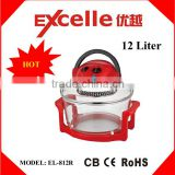 Red color electric halogen convection oven electric turbo hot air fryer without oil