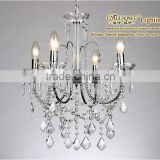 Venetian 4 Arms Crystal Chandelier For Wedding Decoration, Delicated Pendant Lamp For Bedroom, Indoor Decor Lighting