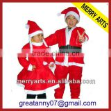 china custom party dress new plush red christmas santa baby cloth for children