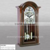 Wall clocks with picture frame Wooden case silver dial and gold pendulum CE/FCC/ISO standrad MW2090