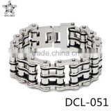 Original factory bracelet supplier stainless steel 24mm bike chain energy bracelet for biker