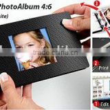 transparent soft cover with minicolor free software,just make DIY photo book 4:6(antraite) at home