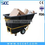roto molded Large Plasitc Tilt Truck, hopper,trolley,trolly                                                                         Quality Choice