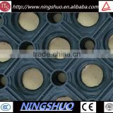 China factory of anti slip porous rubber kitchen mat with hole
