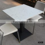 solid surface dining table set, fast food court table,artificial stone coffice table tops