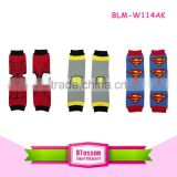 Hot sale newborn baby winter clothing surperman baby leg warmers for kids legwarmers wholesale