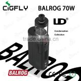 UD Balrog 70w TC Stater KIT, come with ud box mod, 3ml tank, 3 OCC coils, usb cable and strap,Stainless Steel material