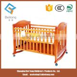 2015 best quality Wooden baby rocking bed