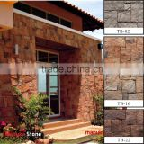 Nature stacked stone easy install random size faux stone wall panel
