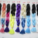 stock cheap factory price ombre xpression braid hair extension hot selling two tone jumbo braid hair                                                                                                         Supplier's Choice