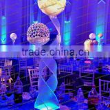 Shanghai party banquet acrylic LED glowing tabletop decorative centerpiece