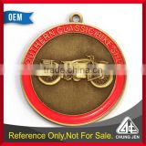 Customized southern classic car show emblem antique bronze medal